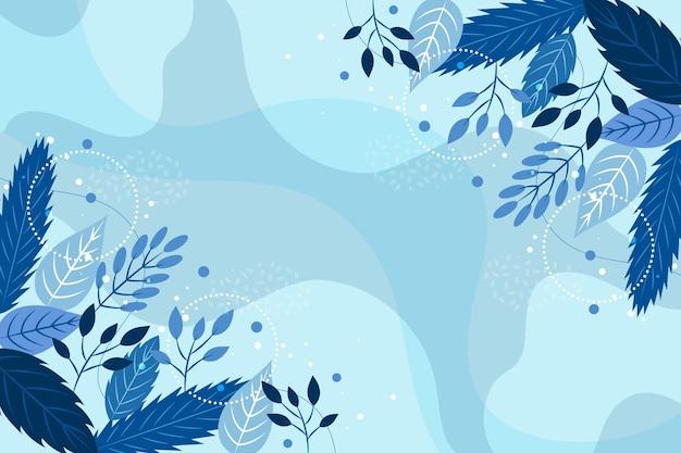 Platte ontwerp winterbloemen behang Premium Vector