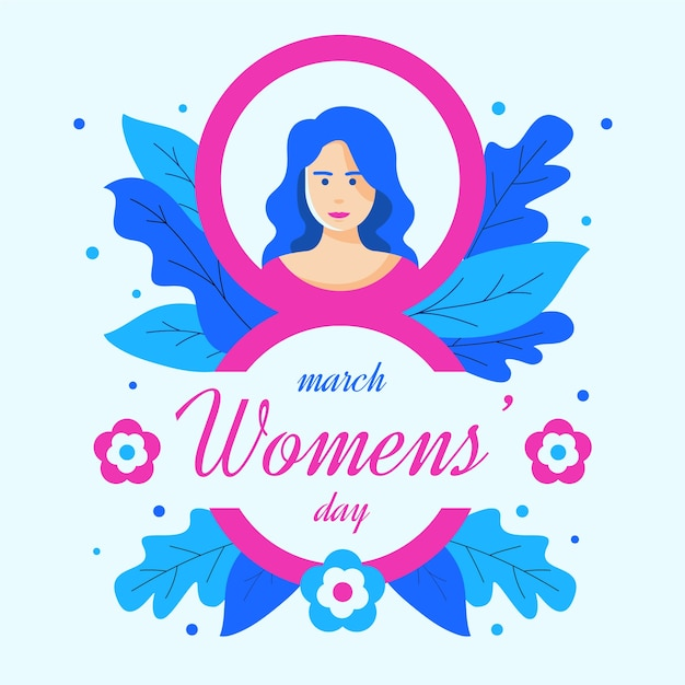 Platte ontwerp womens dag viering moderne concept Gratis Vector
