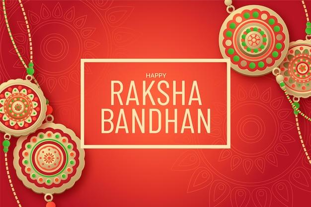 Platte raksha bandhan concept Gratis Vector