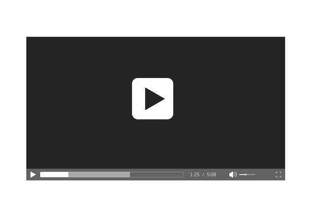 Platte videospeler-sjabloon Premium Vector