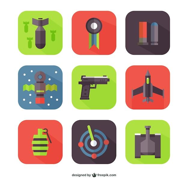 platte wapens vectoren vector gratis download. Black Bedroom Furniture Sets. Home Design Ideas