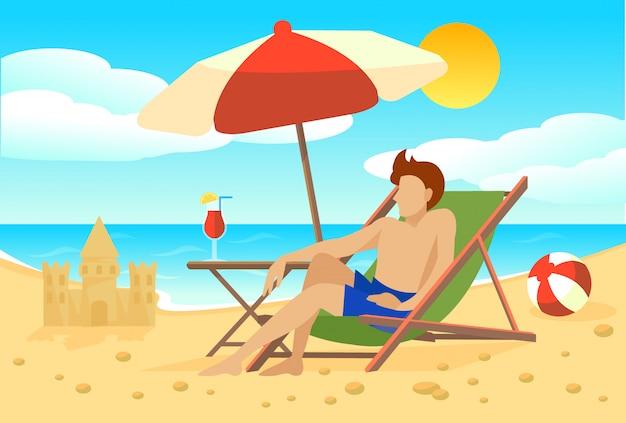Platte zomervakantie concept Gratis Vector