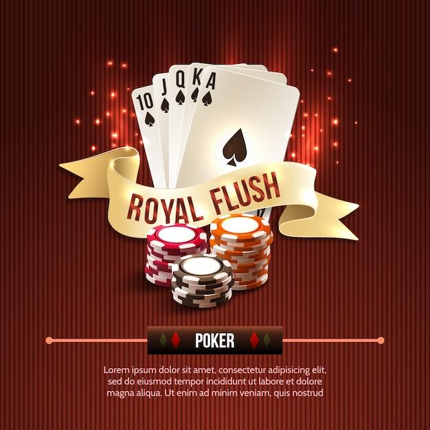 Pocker casino achtergrond Gratis Vector