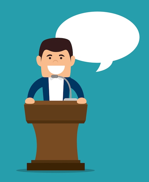 Podium speech Gratis Vector