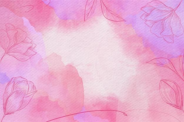 Poeder pastel aquarel achtergrond Gratis Vector