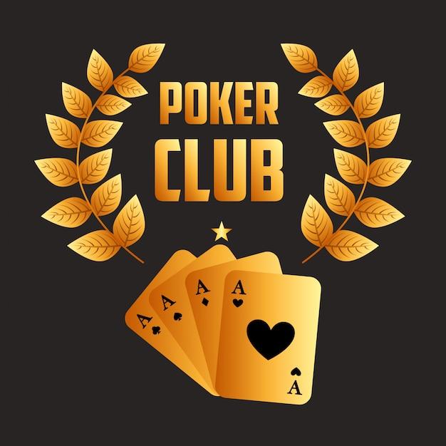 Poker club illustratie Gratis Vector
