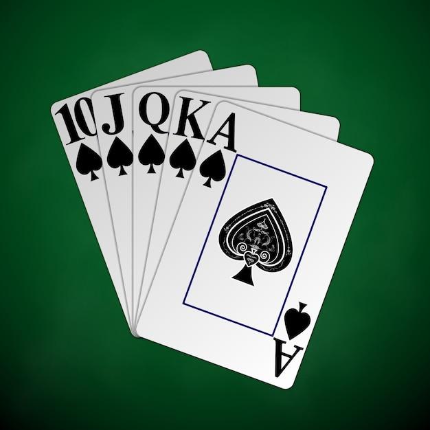 Poker en casino Premium Vector