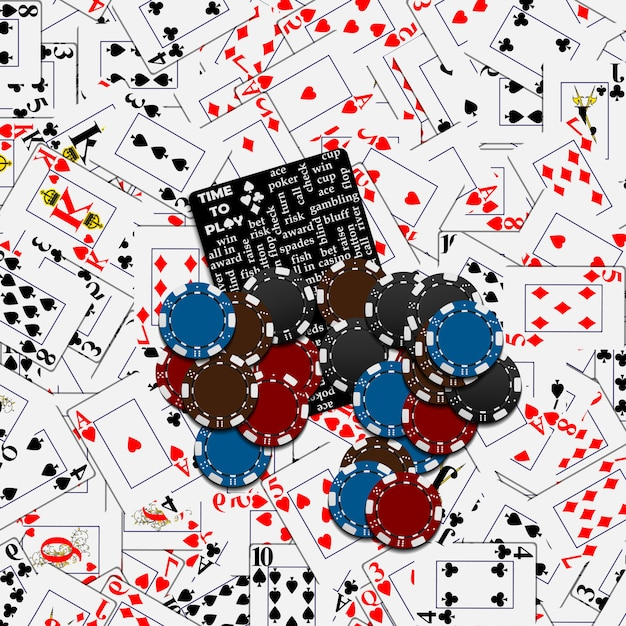 Poker en casino Premium Vector