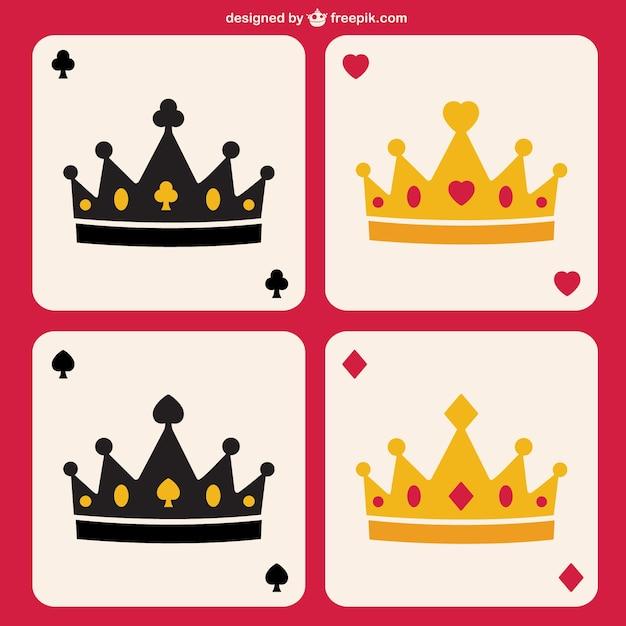 Poker kronen vector Gratis Vector