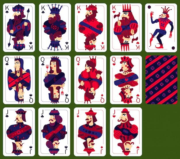 Poker spelen hoge kaarten set Gratis Vector