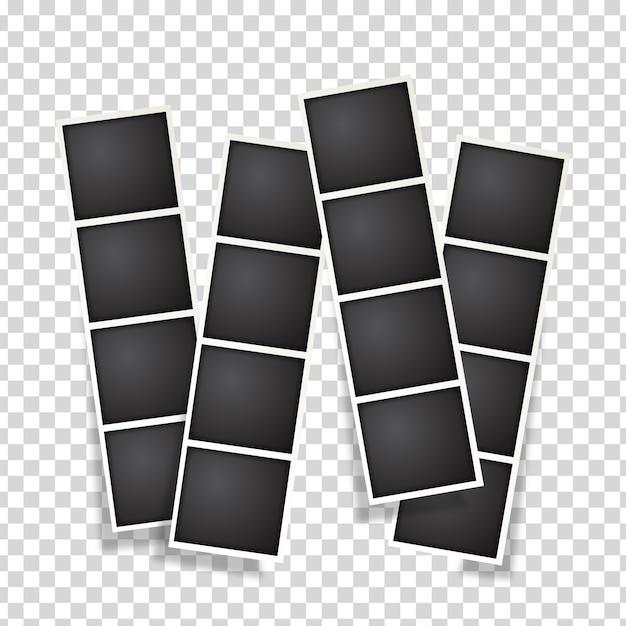 Polaroid-fotocollectie Gratis Vector