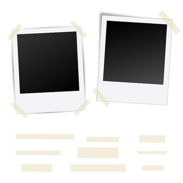 Polaroid fotoframe sjabloon Premium Vector