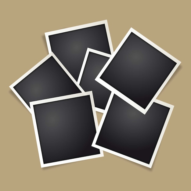 Polaroid fotolijst Gratis Vector
