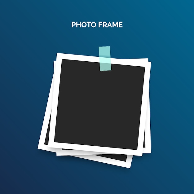 Polaroid-framesjabloon Gratis Vector