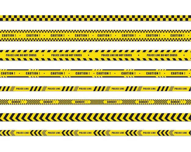 Politie lijn pictogram ontwerp ilustration Premium Vector