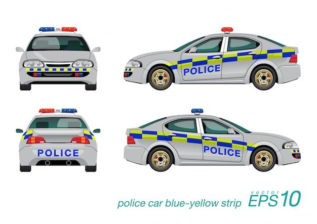 Politieauto Premium Vector