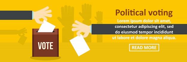 Politieke stemming banner sjabloon horizontale concept Premium Vector