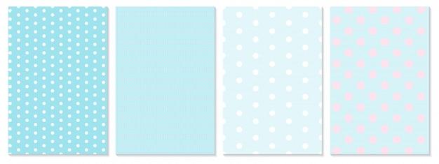 Polka dot patroon. baby achtergrond. blauwe kleur. Premium Vector