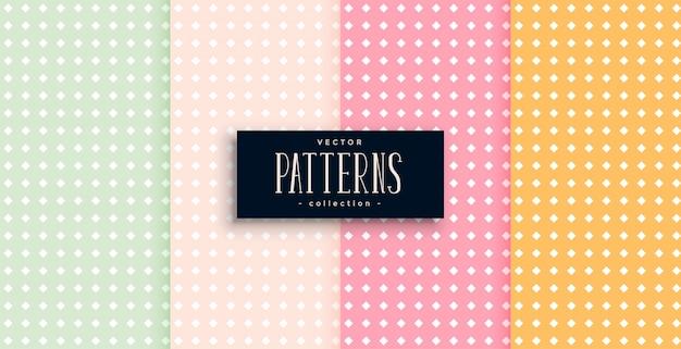 Polka dots patronen set van vier Gratis Vector