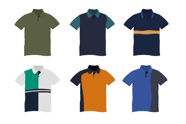 Polo shirt collectie Premium Vector
