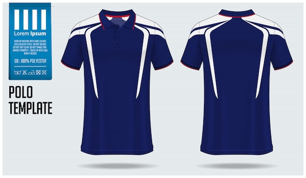 Polo shirt mockup ontwerp. Premium Vector