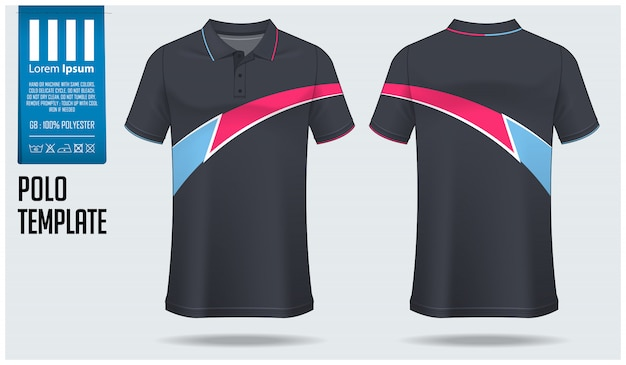 Polo shirt sjabloon Premium Vector