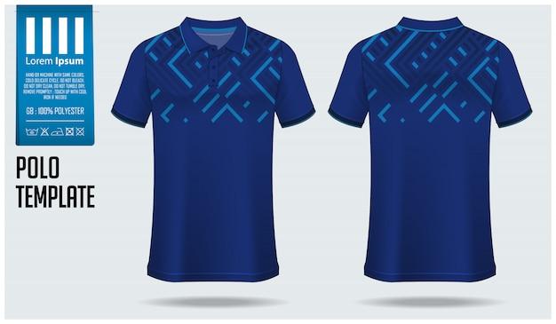 Polo shirt sjabloonontwerp. Premium Vector