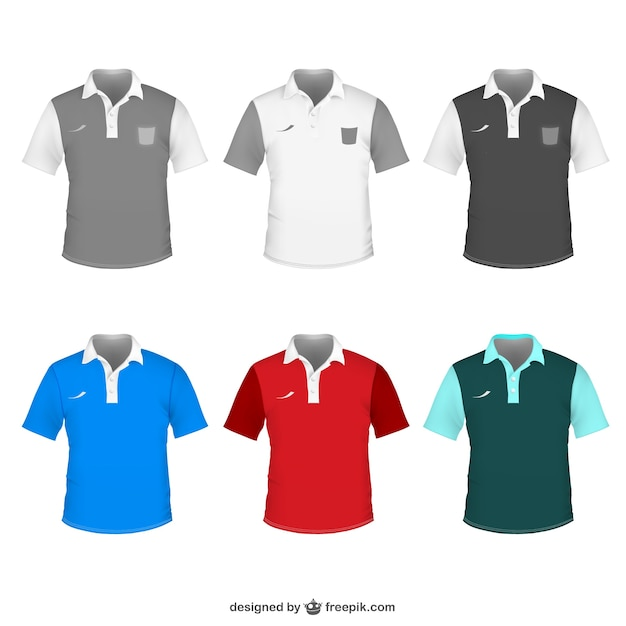 Polo shirt vector sjabloon Gratis Vector
