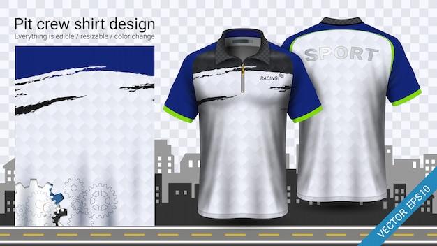 Poloshirt met rits Premium Vector