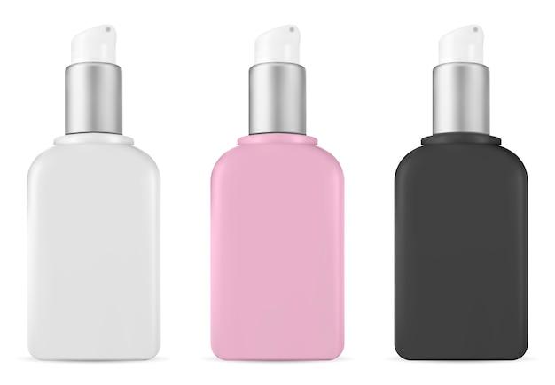 Pomp cosmetische fles Premium Vector