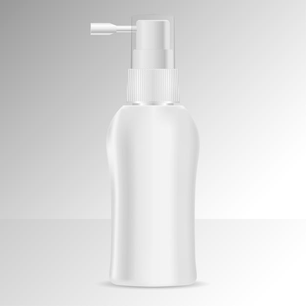 Pomp dispenser haar tonic fles mock up. Premium Vector