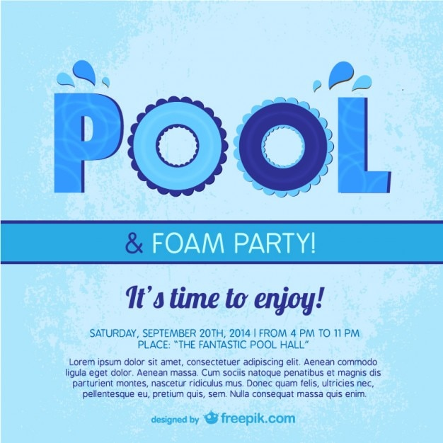 Pool party poster template Gratis Vector