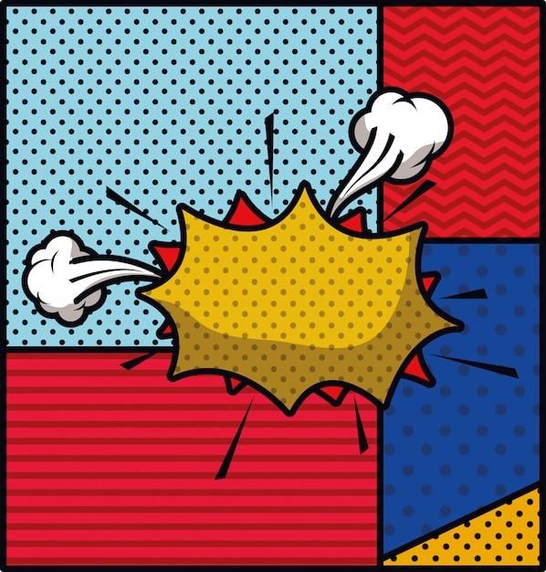 Pop art stijl expressie vectorillustratie Gratis Vector