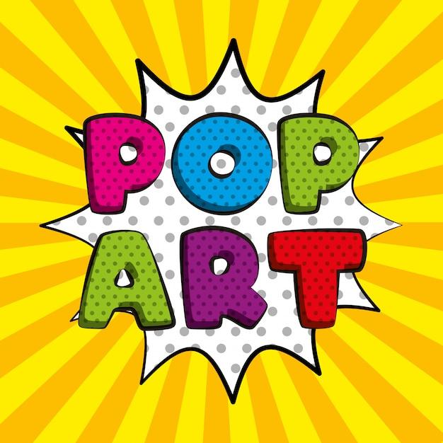 Pop art toespraak cartoon Premium Vector
