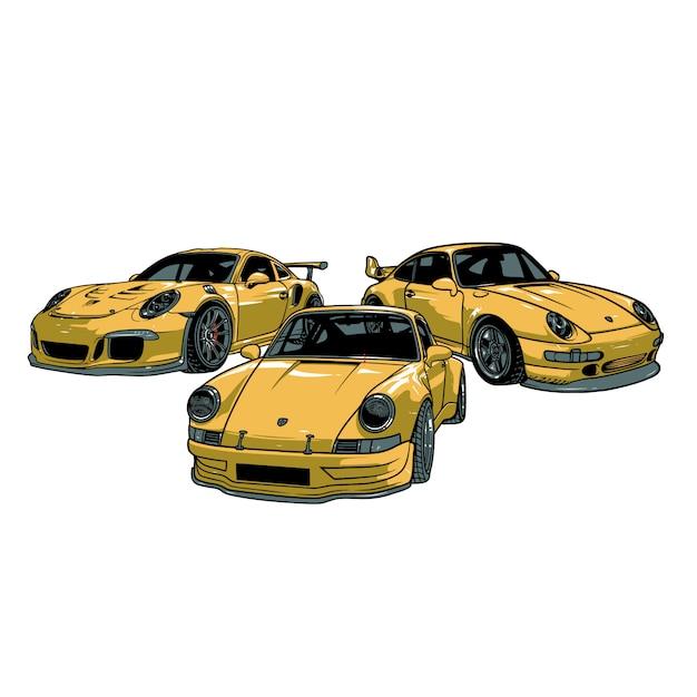 Porsche auto Premium Vector