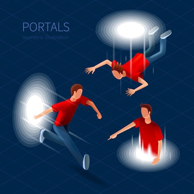 Portalen icons set Gratis Vector
