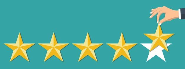 Positieve beoordeling van klanten Gratis Vector