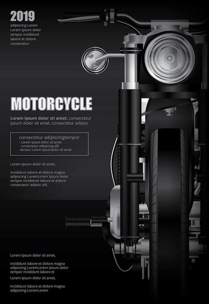 Poster chopper motorcycle geïsoleerde vectorillustratie Premium Vector