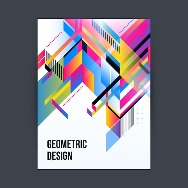 Poster met geometrisch ontwerp Gratis Vector