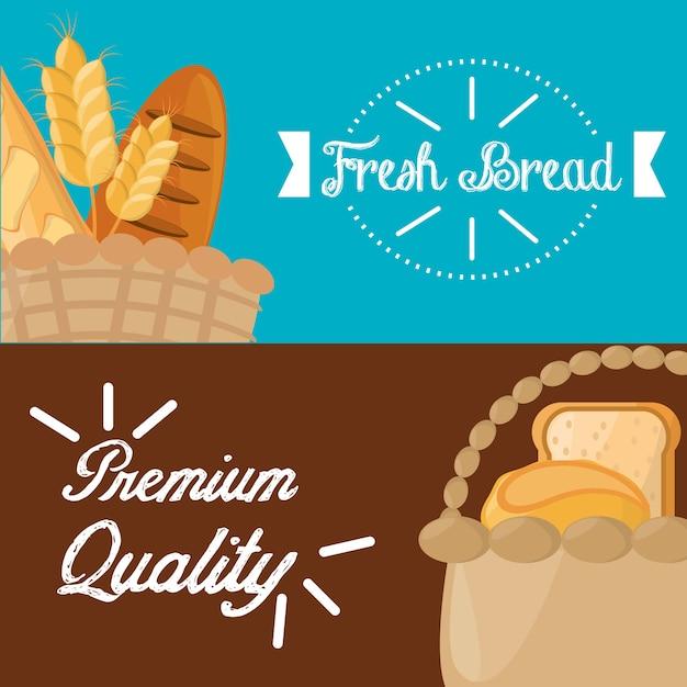 Poster vers brood premium kwaliteit Premium Vector