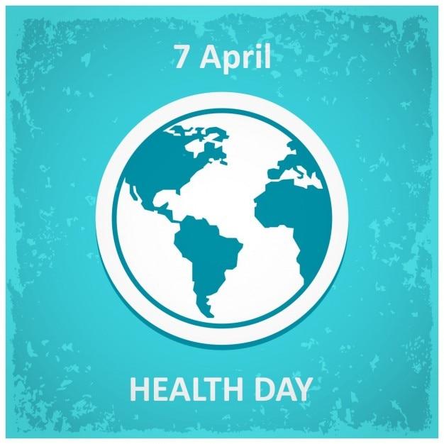 Poster voor de world health day Gratis Vector