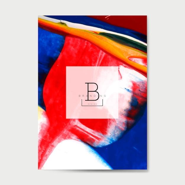 Poster voor kunstevenement Gratis Vector