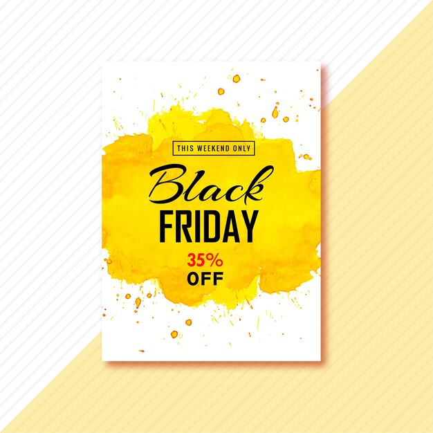 Poster voor zwarte vrijdag brochureontwerp Gratis Vector