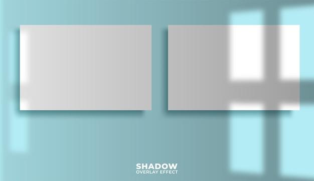 Posters met schaduw-overlay. Premium Vector