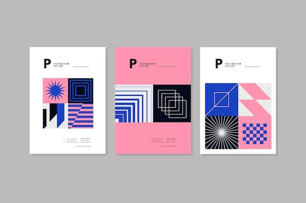 Postmoderne zakelijke omslagcollectie Gratis Vector