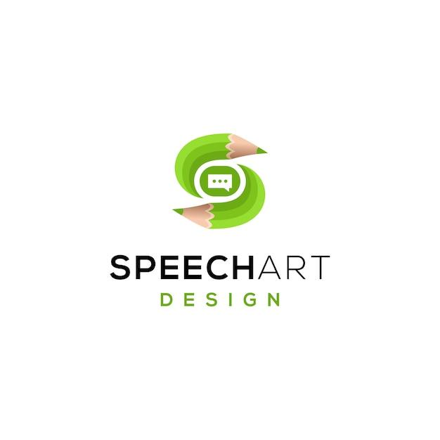 Potloodpictogram logo sjabloon Premium Vector