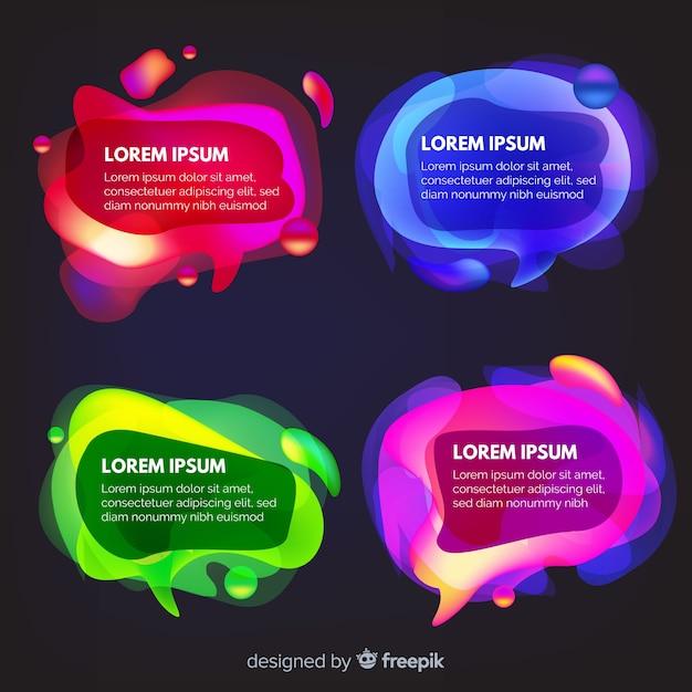 Praatjebellen met kleurrijke verscheidenheid van achtergrond Gratis Vector