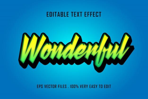 Prachtig - teksteffect premium vector, bewerkbare tekst Premium Vector