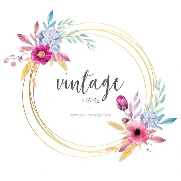 Prachtig vintage frame Gratis Vector