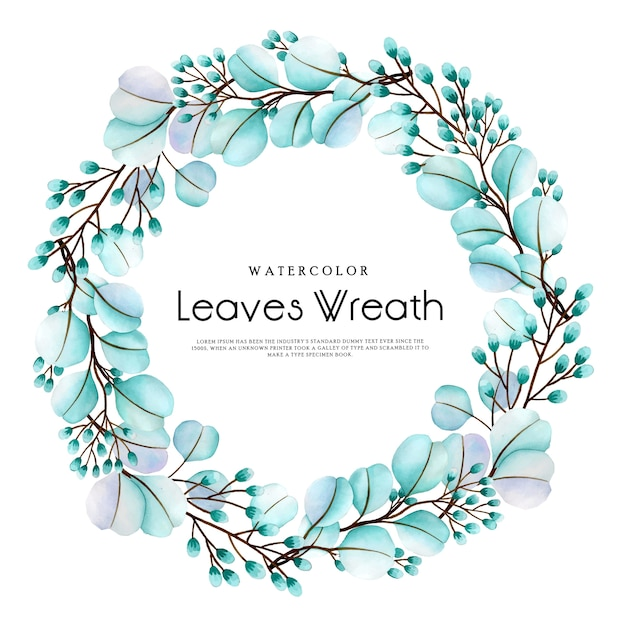 Prachtige aquarel bloemen krans Premium Vector